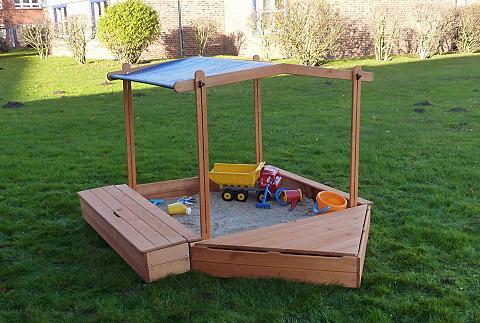 PROMADINO Smėlio dėžė »MULTI« BxL: 260x172 cm su...