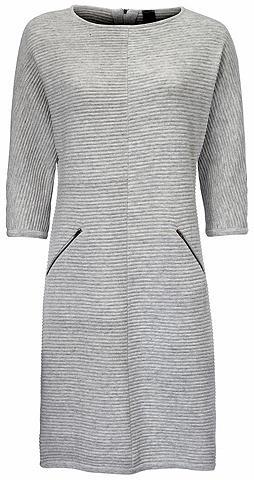 Megzta suknelė su 3/4 rankovės