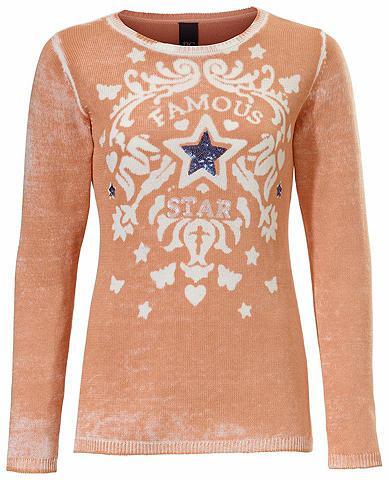heine CASUAL Raštuotas megztinis su žvyneliai