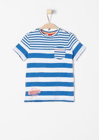 Dryžuoti marškinėliai im Used-Look f