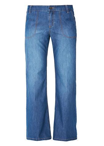 Curvy: Wide Leg-Jeans