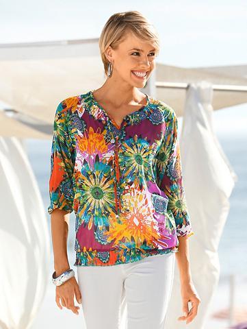 Tunika su piešiniu su gėlėtas dizainas...