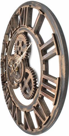 Sieninis laikrodis im Industrie-Design...