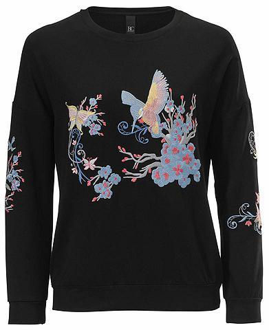 Sportinio stiliaus megztinis su raštų ...