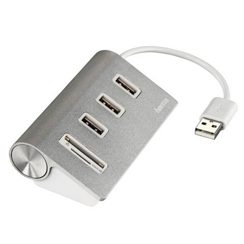 Hama USB-2.0-Hub/Kartenleser