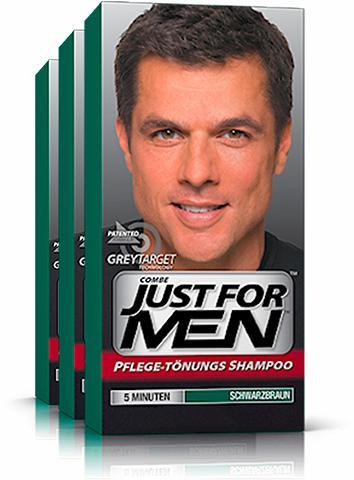 JUST FOR MEN »Pflege-Tönungs-Shampoo Schwarzbraun« ...