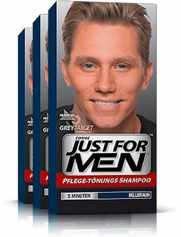 JUST FOR MEN »Pflege-Tönungs-Shampoo Hellbraun« Haa...