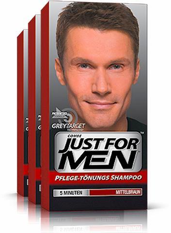 JUST FOR MEN »Pflege-Tönungs-Shampoo Mittelbraun« H...