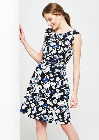Elegantiška satininė suknelė su puošnu...