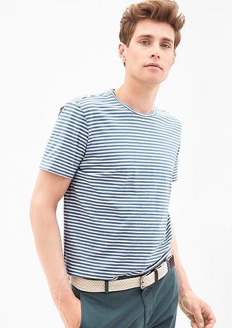 Dryžuoti marškinėliai su Farbeffekt