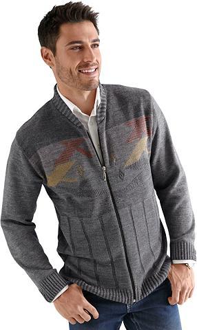 CLASSIC Megztinis su geripptem apvalia iškirpt...