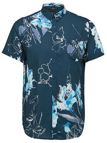 Blumenbedrucktes marškiniai ilgomis ra...