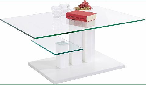 Kavos staliukas »Bergamo« su stiklo pl...