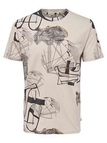 ONLY & SONS raštuotas Marškinėliai