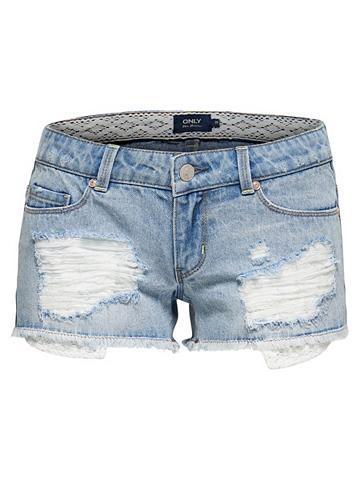 Coral sl nėriniai džinsiniai šortai