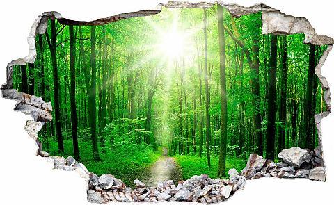 3D Sienos lipdukai »Sunny Forest« in 3...