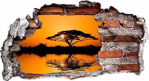 3D Sienos lipdukai »Afrika« 60/32 cm