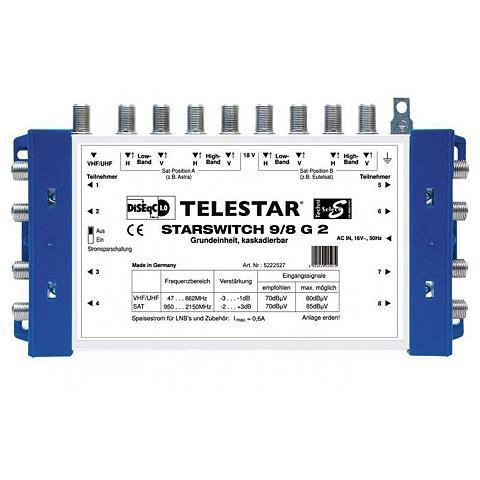 TELESTAR SAT-Multischalter »STARSWITCH 9/8 G2«