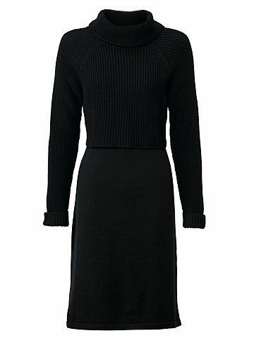 heine CASUAL Megzta suknelė su Strickmix