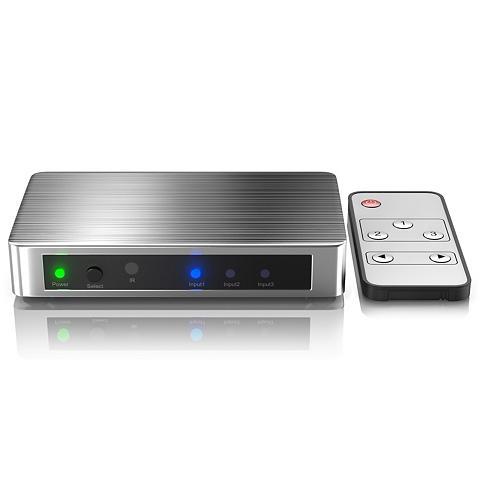 PRIMEWIRE 3-Port UHD 4k HDMI Šakotuvas ir Nuotol...