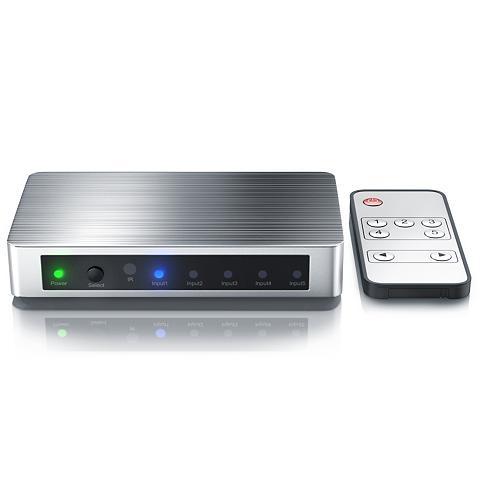 PRIMEWIRE 5-Port UHD 4k HDMI Šakotuvas ir Nuotol...
