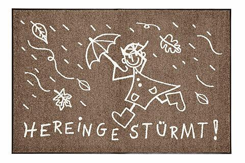 SALONLOEWE Durų kilimėlis Hereingestürmt lengvai ...