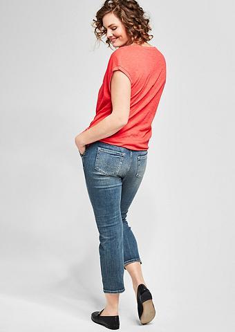 Curvy Įliemenuotas: 7/8-Vintage-Jeans