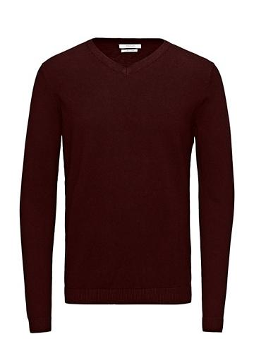 Jack & Jones Eleganter Seidenmix-V-Aus...