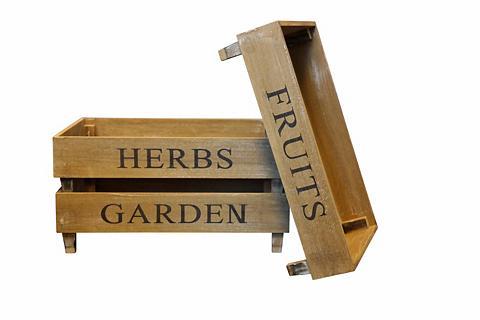 HOME AFFAIRE Kisten-Set »Fruit Herbs Garden«