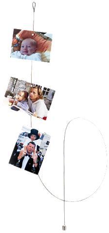 WALTHER Bildaufhänger »Fotoseil 15 m Magnet ru...