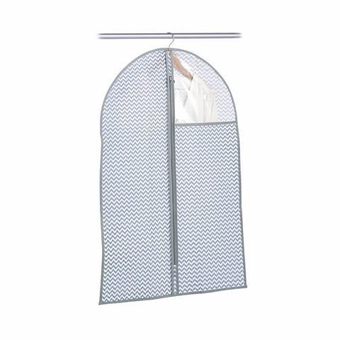 Zeller Present Kleiderschutzhülle Vlies weiß/grau