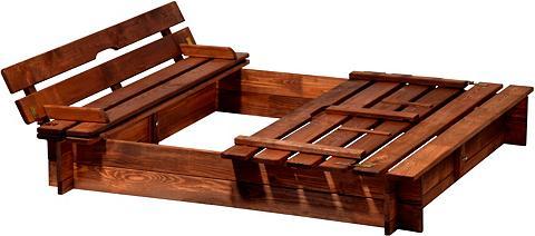 DOBAR Smėlio dėžė BxL: 118x118 cm su Abdecku...