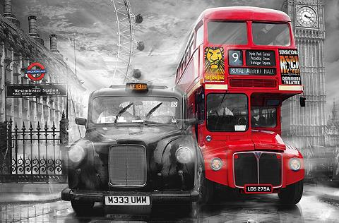 IDEALDECOR XXL Plakatas »Giant Art - Taxi & Bus«
