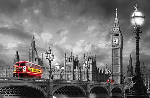 IDEALDECOR XXL Plakatas »Giant Art - Bus on Westm...