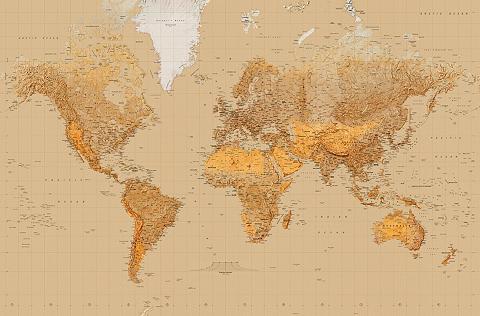 IDEALDECOR XXL Plakatas »Giant Art - The World«