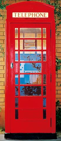 IDEALDECOR Durų tapetas » Telephone Box« 2 vnt. r...