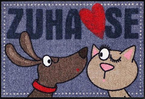 Durų kilimėlis »Dog loves Cat« rechtec...