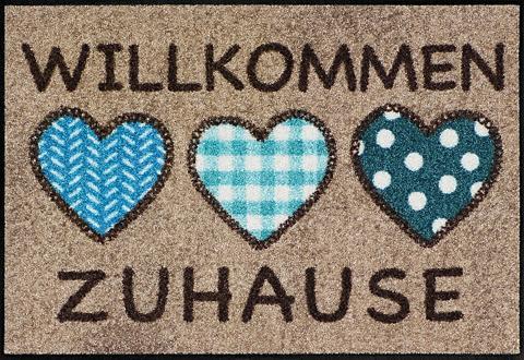 Durų kilimėlis »3 Herzen Zuhause« rech...