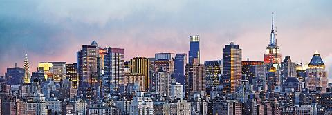 IDEALDECOR Fototapetas »New York Skyline« 4 viene...