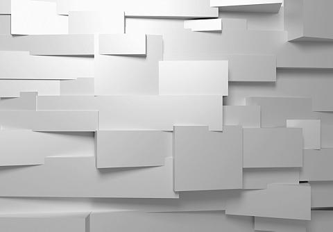 IDEALDECOR Fototapetas »3D-Wall« 8 vnt. 366x254 c...