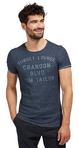 Marškinėliai »T-Shirt su Schrift-Appli...