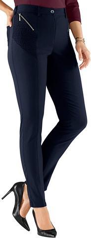 Kelnės su imitacija streckender siūlės...
