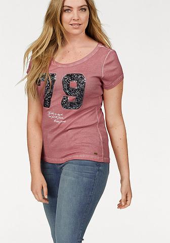 Marškinėliai »vorn su Pailletten«