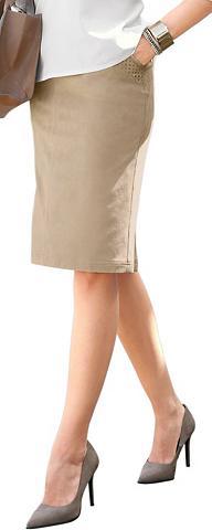 CLASSIC INSPIRATIONEN Dirbtinės odos sijonas su skeltukas