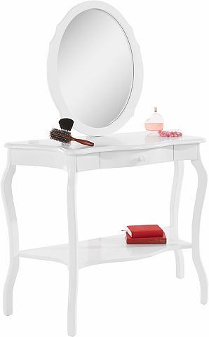HOME AFFAIRE Kosmetinis staliukas ir veidrodis im r...