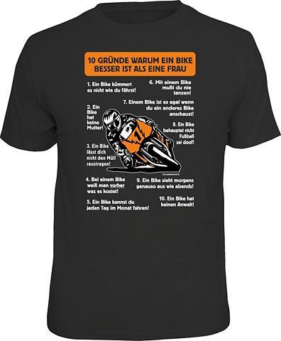 Marškinėliai »Warum ein dviratis besse...