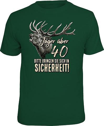 Marškinėliai su raštas priekyje »Jäger...