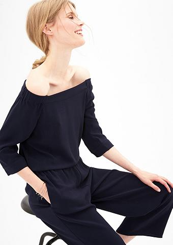 Off Shoulder-Overall iš krepo