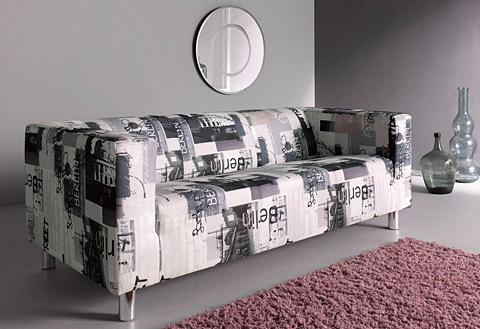 Trivietė sofa su Berlin-Druck