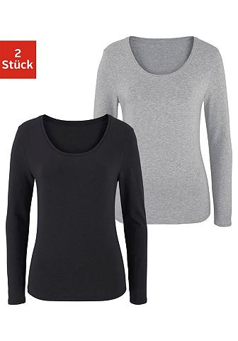 Marškinėliai ilgomis rankovėmis (2 vie...